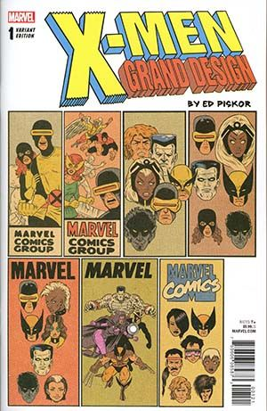 X Men Grand Design 1 Cover B Variant Ed Piskor Corner Box Cover Grand Designs Comics X Men