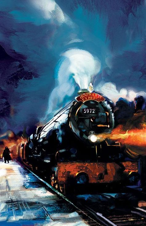 Harry Potter Hogwarts Express Jim Salvati SIGNED Giclee on Paper Limited Ed of 250