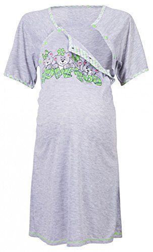 2 in1 H/übsches Stillnachthemd /& Umstandsnachthemd Nachthemd 2064 Mija