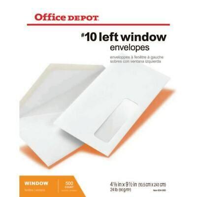 Ad Ebay Office Depot Window Envelopes Window On Bottom Left 10 White 500 Pack In 2020 Window Envelopes Office Depot Envelope