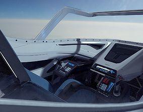 Sci Fi Fighter Cockpit 4 3d Model Cgtrader Futuristic