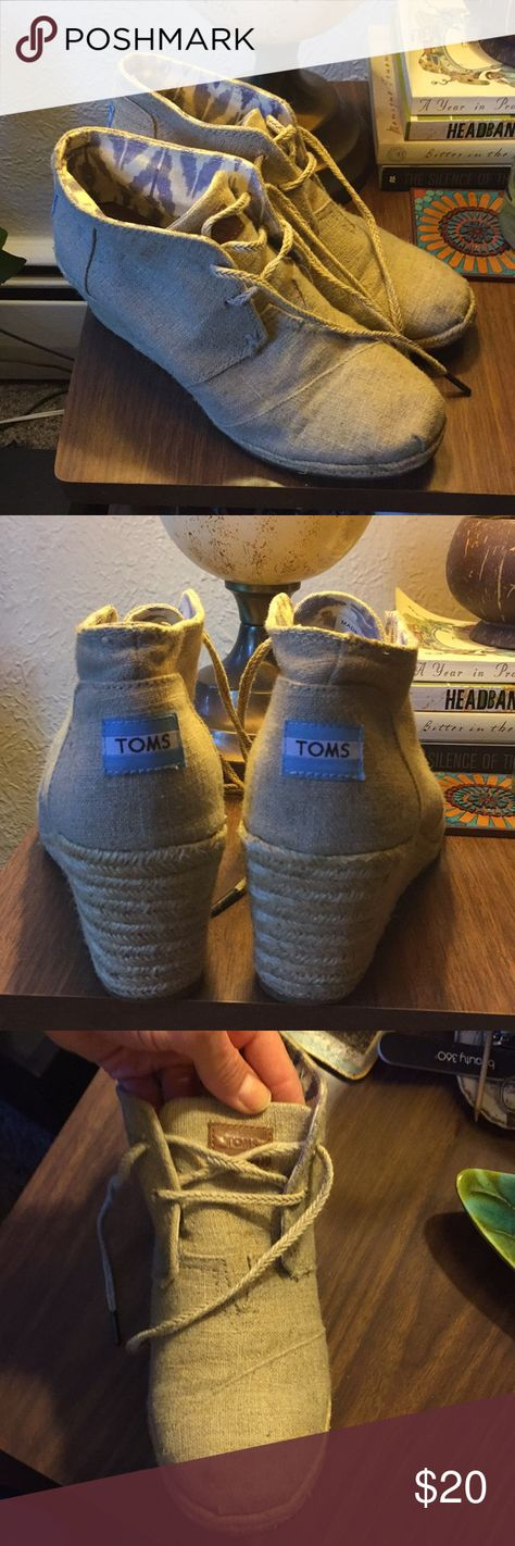 Toms Shoes 80% OFF!> TOMS LACEUP ESPADRILLES Extremely comfy and stylish. Worn a handful of times. Small mark on left toe. Can be cleaned Toms Shoes Wedges #Toms #Tomsshoes #shoes #style #Accessories #shopping #styles #outfit #pretty #girl #girls #beauty #beautiful #me #cute #stylish #design #fashion #outfits #diy #design