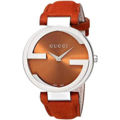 317056caf06 Gucci Gucci Interlocking Collection Analog Display Swiss Quartz Orange Watch