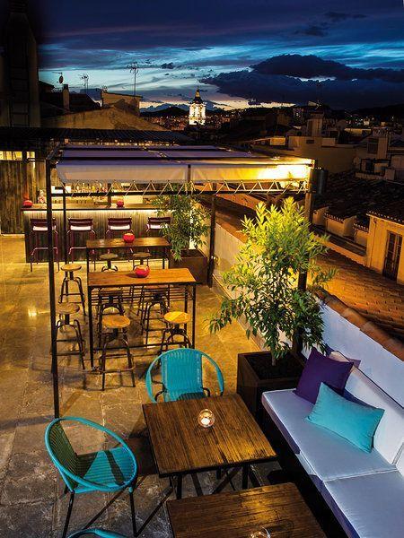 Terraza Del Molina Lario En Málaga Rooftop Restaurant