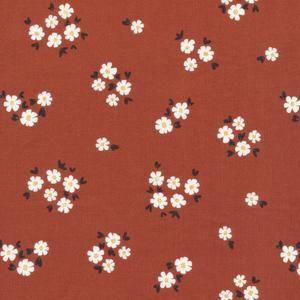 Pocket Full of Posies Brick - Fanciful - Fabrics - Organic Cotton - Poplin by the Yard