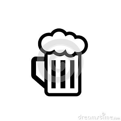 Beer Mug Silhouette Icon Clipart Image Isolated On White Background Clip Art White Background Beer