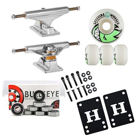 Spitfire Skateboard Wheels with Hybrid Ceramic Bearings Bighead White 99A