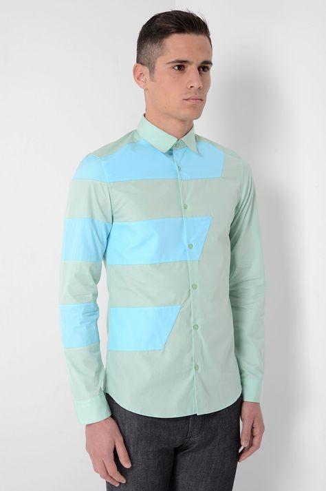 KENZO Z Stripes Mint Green Shirt