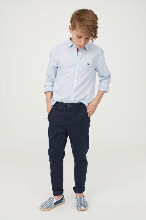 Spodnie chinos Slim fit - Ciemnoniebieski - Dziecko   H&M PL 1