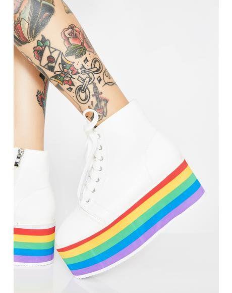 Rainbow Rebellion Platform Sneakers in 2020 | Sneakers