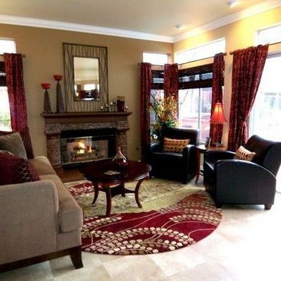 Myhomestyleguide Maroon Living Room Burgundy Living Room Gold Living Room