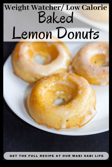 Want to make Lemon Donuts at home? You have to try this recipe. Thes. Want to make Lemon Donuts at home? You have to try this recipe. These lemon doughnuts a - Low Calorie Baking, Low Calorie Desserts, No Calorie Foods, Low Calorie Recipes, Ww Desserts, Weight Watchers Muffins, Weight Watchers Meal Plans, Weight Watchers Snacks, Paleo Recipes Easy