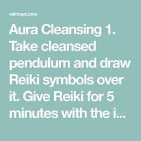 Cleansing with Pendulum | Reiki | Reiki, Kundalini reiki