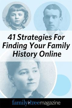 Think your ancestors are a lost cause? Not with our 41 strategies for finding your family history online. Think your ancestors are a lost cause? Not with our 41 strategies for finding your family history online. Family Tree Book, Family Tree Chart, Family History Book, Family Guy, Family Trees, Family Roots, Your Family, Free Genealogy Sites, Genealogy Research