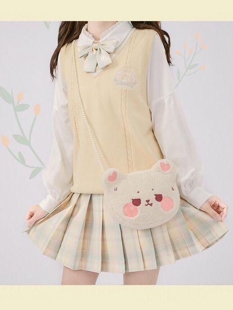 Harajuku Fashion, Kawaii Fashion, Lolita Fashion, Cute Fashion, Fashion Outfits, Cute Korean Fashion, Gyaru Fashion, Fashion Styles, Japanese Outfits