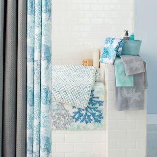 coastal printed shower curtain