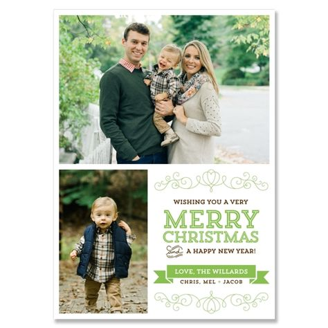 Heart - Holly - Unique Holiday Card by The Green Kangaroo