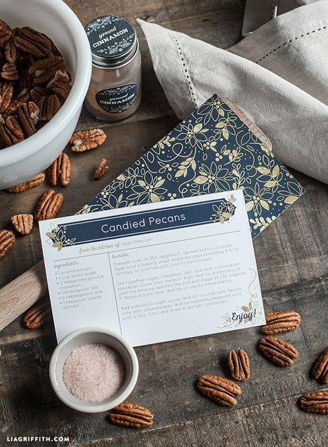 Holiday Recipe Card Printables - Lia Griffith