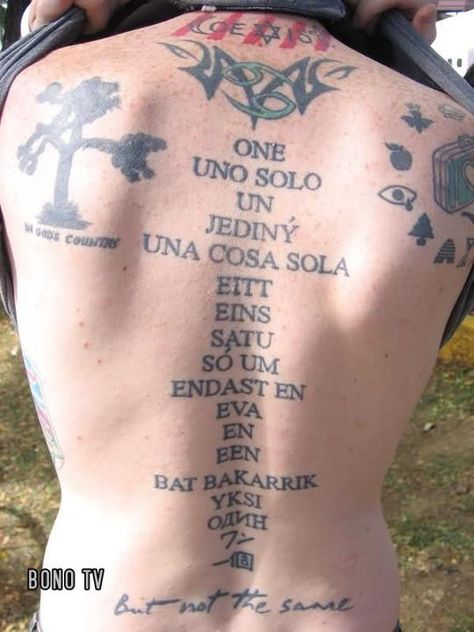U2 Tattoo - holy shit this person's back is U2 central