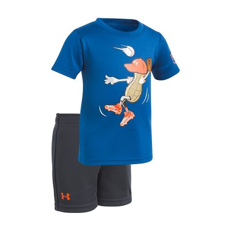 Under Armour Baby Girls Outfielder Peanut Short Sleeve T-Shirt