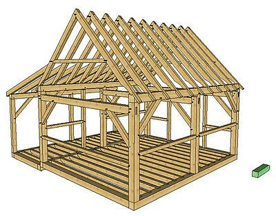Timber Frame Cabin Plans Size 16 X 20 W Porch Two Doors Plans On 8 1 2x11 New In 2020 Timber Frame Cabin Plans Timber Frame Cabin Wood Shed Plans