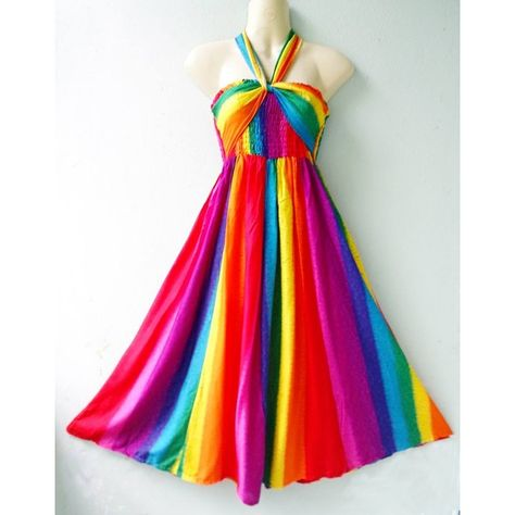 Rayon 3 in 1 Rainbow Balloon Stylist Halter Skirt Beach Summer Sundress S M L and other apparel, accessories and trends. Browse and shop 8 related looks.