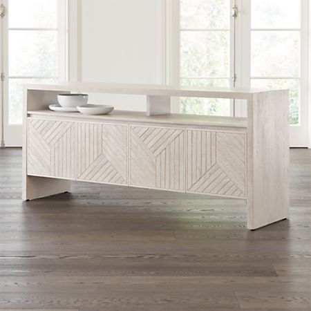 Dunewood Whitewashed Sideboard + Reviews   Crate and Barrel