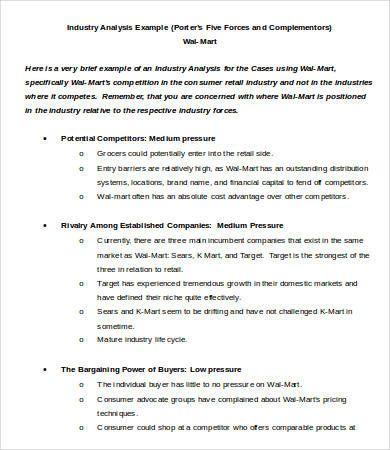 Industry Analysis Template Analysis Economic Analysis Report