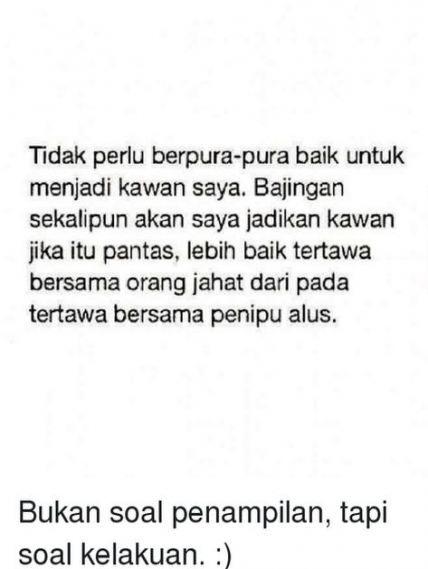 Quotes Indonesia Nyindir Sahabat 59 Ideas Quotes Teman