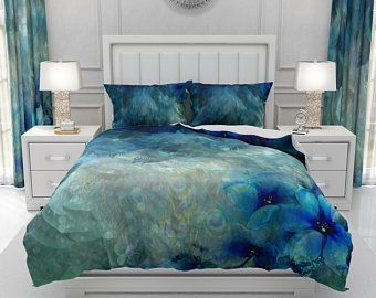Peacock Comforter Duvet Cover Pillow