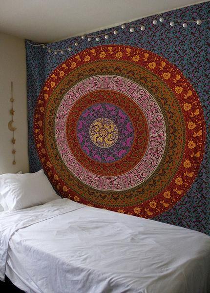 Magical Night Puprle Mandala Tapestry Extra Large Tapestry Wall Hangings Tapestry Wall Hanging Mandala Tapestry Bohemian Wall Tapestry Bedroom