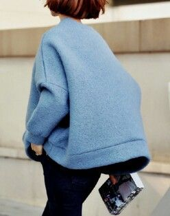 Oversized blue jumper | Image via coffeebags-n-shoes.tumblr.com ...