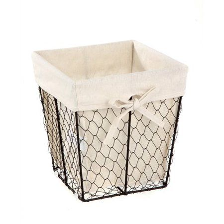 Homezone Square Wire Basket With Liner 1 Each Walmart Com