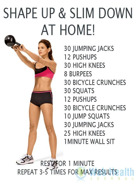 Shape up & slim down at home.