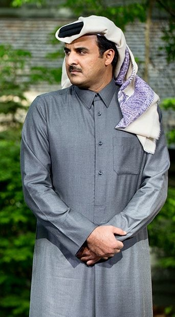 Sheikh Tamim Bin Hamad Al Thani Qatar الأمير تميم بن حمد بن خليفة آل ثاني Mens Tops Fashion Raincoat