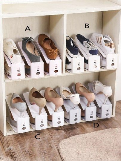 Double Layered Shoes Storage Rack 1pc Shoe Storage Rack Shoe