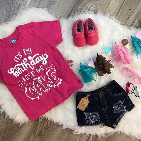 Its My Birthday Feed Me Cake Kids Trendy Tee Or Bodysuit Baby Toddler Boy Girl Clothing