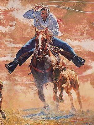 Advertisement Cowboy Calf Roping Rodeo Pre Pasted Wallpaper Border Buy 3 Save More 618 Calf Roping Wallpaper Border Rodeo Horses