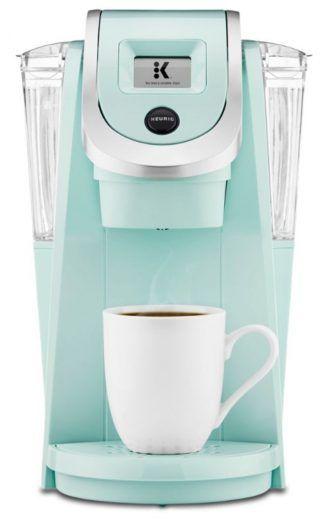 Keurig K250 Single Serve Coffee Maker In Oasis Teal Seafoam Green Retro K Cup Machine Camping Coffee Maker Pod Coffee Makers Home Coffee Stations