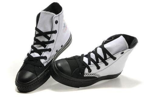 Black & white wing-tip Chucks #converse #chucktaylor #hightops   Chuck  Taylors   Pinterest   Converse, Black and Star