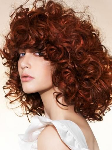 Fabulous Chin Length Curly Lace Front Copper Wigs 16 Inch Copper Red Hair Curly Hair Styles Red Hair Color