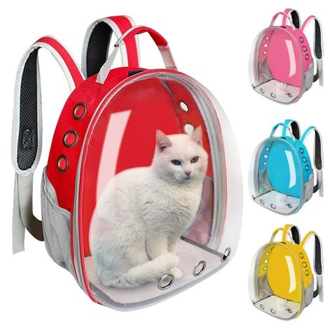 Breathable Pet Cat Carrier Bag Transparent Space Pets Backpack Capsule Bag For Cats Puppy Astronaut Travel Carry Handbag Outdoor Wish キャリーバッグ バックパック ハンドバッグ