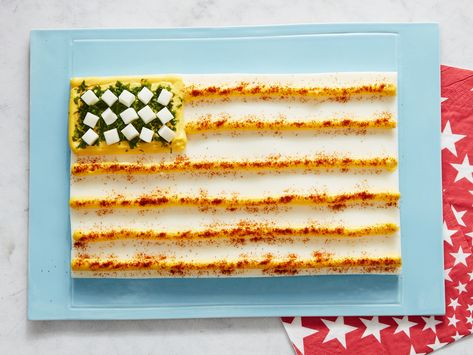 Recipe of the Day: Deviled Egg Flag | This easy and creative app combines two all-American favorites: the Stars and Stripes, and classic deviled eggs.