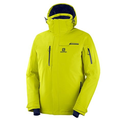 The Salomons Mens Brilliant Ski Jacket gets subtle style updates including bomber detailing, plus waterproof stretch fabric tough enough to take on the elements.