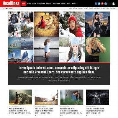 News Headlines Website Template Magazine Templateonweb Headlines Is Responsive Multipurpose News Magazine And H Website Template Headlines Website Layout