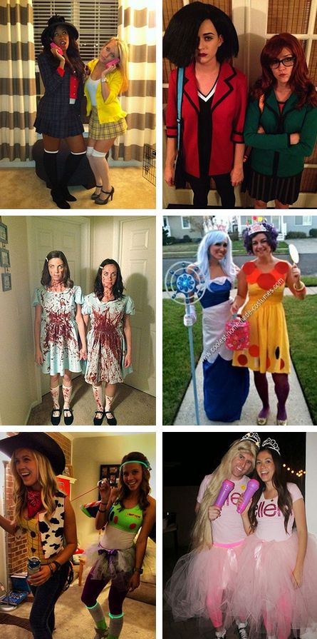 Disney Duos 21 Brilliant Costumes For Best Friends | Costumes Halloween costumes and Bff halloween costumes  sc 1 st  Pinterest : trio halloween costumes ideas  - Germanpascual.Com