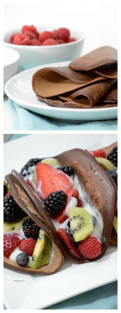 Recipes | Dessert | These Chocolate Crepes with Fresh Fruit are a great way to enjoy something sweet as a dessert.  But they also can make a great breakfast or brunch