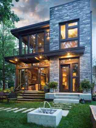 Rustic Contemporary Lake House With Privileged Views Of Lake Minnetonka Home Architecture Styles Architecture House Modern Lake House