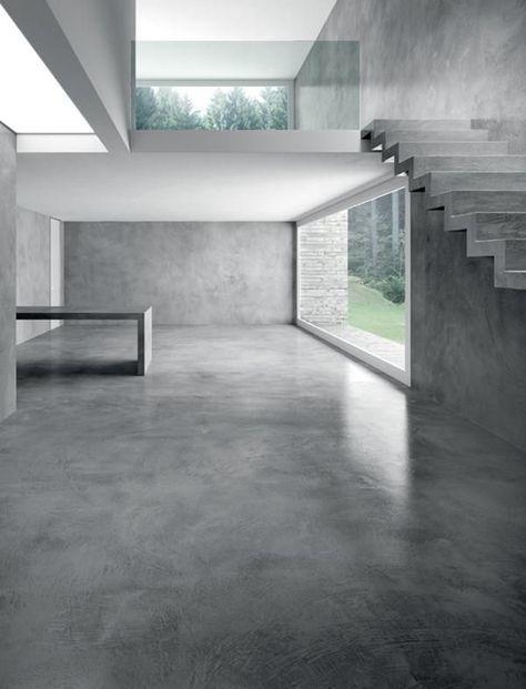 Concrete architecture space PAVIMENTI E PARETI IN CEMENTO