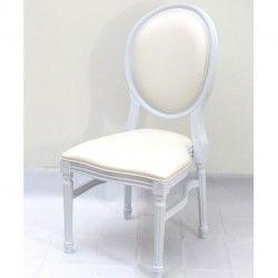 Chaise Medaillon Blanche En Resine Pour Decorer Une Salle De Reception Chaise Medaillon Decoration Maison Chaise